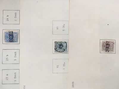 Belgium incl railway excellent early hoard of stamps on album pages