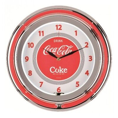 Reloj Pared doble Neón Coca-Cola