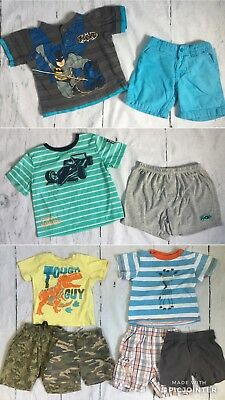 Lot Infant Baby Toddler Boys 24M Clothes Spring Summer Shorts Shirts Pajama 10pc