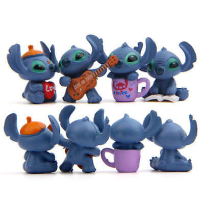 4pcs Lilo & Stitch Disney Figures Dispaly Mini Figurine Toy Home Decor Kids Gift