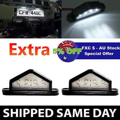 2 x LED License Number Plate Light Tail Rear Lamp Truck Trailer Lorry AU Stock