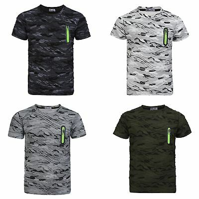 KIDS CAMOUFLAGE T SHIRT MILITARY HUNTING FISHING CAMO ARMY COMBAT TOP VEST 3-14
