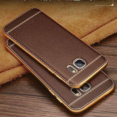 For Samsung Galaxy S8 S7 J7 J5 Luxury Ultra-thin PU Leather Back Skin Case Cover