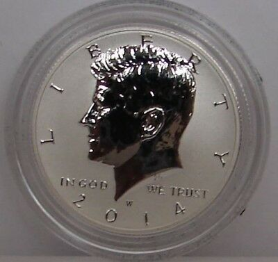 2014 W Reverse Proof Silver Kennedy Half Dollar - From 50Th Anniversary Set