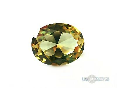 Diaspore #1405. Color Change. Oval 10x8 mm. 3 ct. SIAMITE Created Gemstone US@