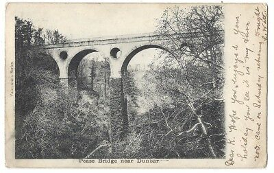 PEASE BRIDGE Cockburnspar nr Dunbar, Early Undivided Back Postcard Posted 1902
