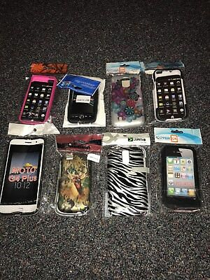 Lot Of Cell Phone Cases And Screen Protectors (22) - Good For Flea Market?