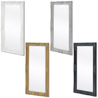 "vidaXL Wall Mirror Ornate Vanity Baroque 39.4""x19.7"" Bedroom Hallway 4 Colors✓"