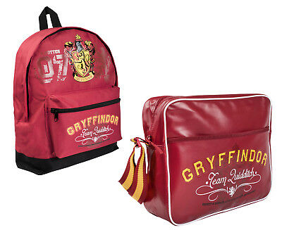 Harry Potter Shoulder Bag Gryffindor Messenger School Bag Backpack Rucksack