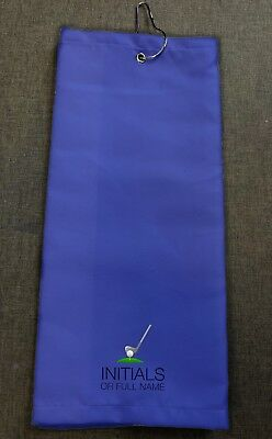 Personalised Microfibre Golf Towel - Choose Wording, Colour, Add Name & Initials