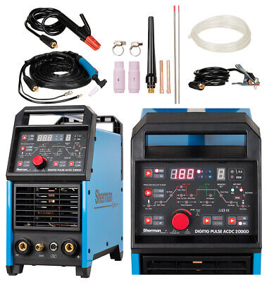 Inverter welder DIGITIG pulse AC/DC Sherman 200GD 230 50Hz TIG, MMA IGBT VAT0