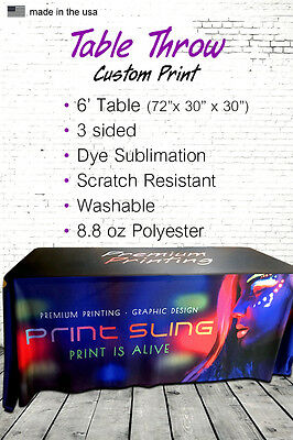 6' Table Cover for Trade Shows, Expos, Activations -  Custom Printing
