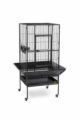 Prevue Pet Products Park Plaza Large Bird Cage Black Hammertone