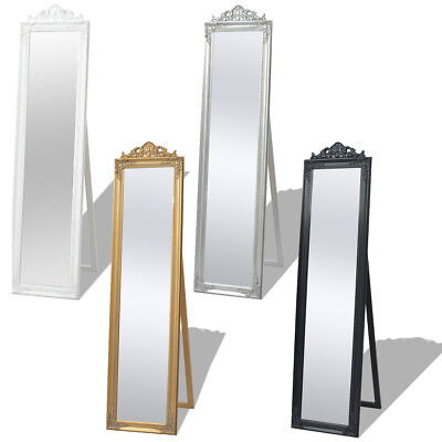 vidaXL Full Length Floor Mirror Free Standing Wood Bedroom Dressing 4 Colors✓