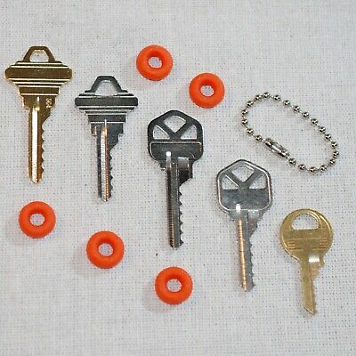 5 Piece Basic Depth Key Set With Bump Rings, Offset Cuts