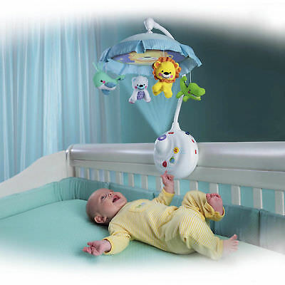 Fisher-Price 2-in-1 Projection Crib Mobile, Precious Planet Baby Toy Toddler