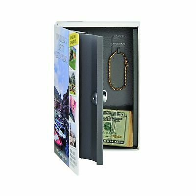 STEELMASTER Travel Book Safe with Keyed Lock, 9.44 x 6.18 x 2.22 Inches, Mult...