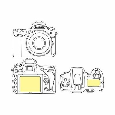 Martin Fields Overlay Plus Screen Protector (Nikon D750) - Includes Top LCD P...
