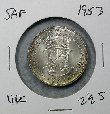 1953 South Africa 2 1/2 Shillings Uncirculated No Reserve!!