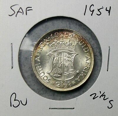 1954 South Africa Half 2 1/2 Shillings Uncirculated No Reserve!!
