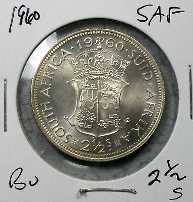 1960 South Africa 2 1/2 Shillings Uncirculated No Reserve!!