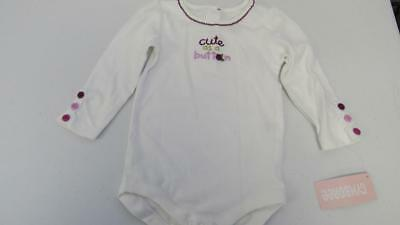 GYMBOREE All Ruffled Up White Bodysuit W// Butterfly Size 6-12-18 Mos NEW