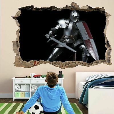Knight Sword Shield Wall Art Stickers Mural Decal Vinyl Poster Decor Kids FC12