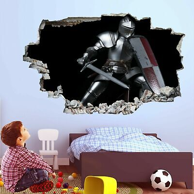 Knight Sword Shield Wall Art Stickers Mural Decal Vinyl Poster Decor Kids FC13