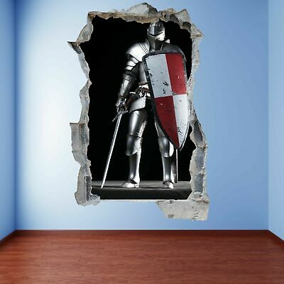 Knight Sword Shield Wall Art Stickers Mural Decal Vinyl Poster Decor Kids FC26