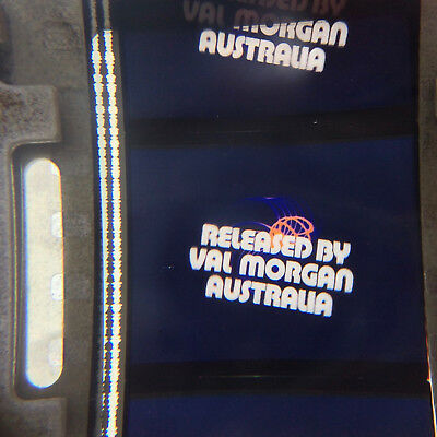 35mm movie VAL MORGAN IDENT LOGO TAG AD Australian film cinema advertising rare