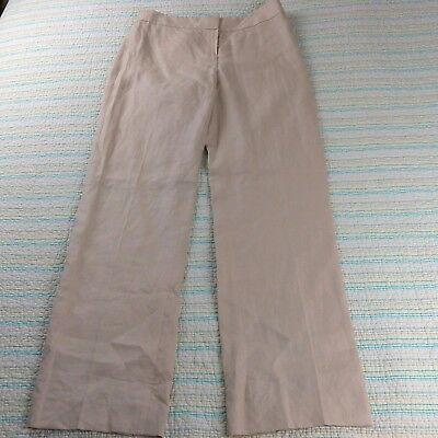 NWT Brooks Brothers Women's Sz 4 Caroline Fit 100% Linen Natural Beige Pants