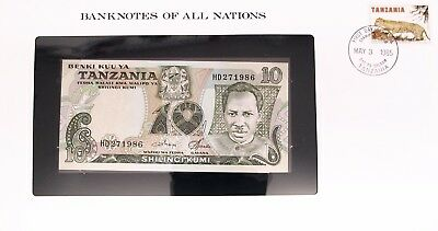 TANZANIA -1978 - 10 SHILLING - CU - P6c BANKNOTES OF ALL NATIONS  7585