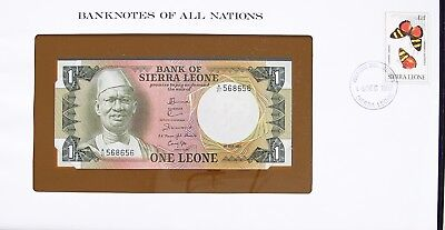 Sierra Leone - 1981 -  One Leone - Cu - P5 - Banknotes Of All Nations 7532