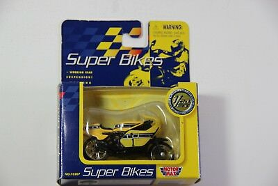 Motor Max Super Bikes GP500 Yellow Motorcycle Replica Die Cast Toy 1/24 76207