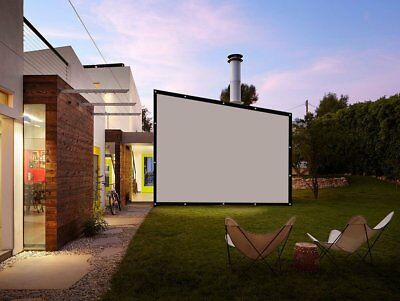 150 Inch 16 9 - Fabric Outdoor Portable Movie Screen Projector Screen Front Rear