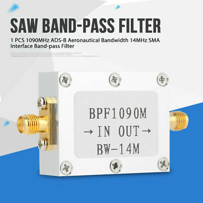 1090MHz ADS-B Aviation Frequency 14MHz Bandpass SAW Filter SMA interface inm