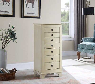 7 Drawer Jewelry Armoire with Locking mechanism