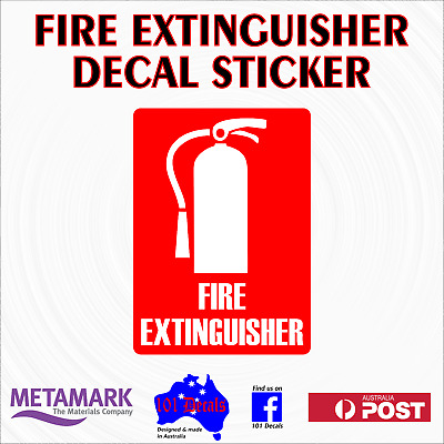 125mm FIRE EXTINGUISHER work car,ute,4x4,truck,office,safety sign decal sticker