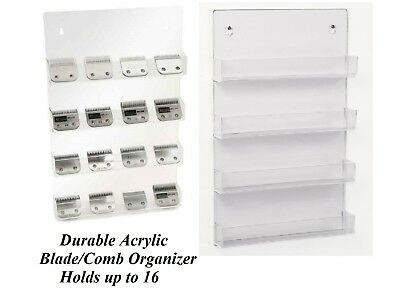 Clipper BLADE&ATTACHMENT/Guide COMB STORAGE Organizer SHELF*For Oster,Wahl,Andis