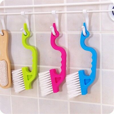2Pcs/set Home Kitchen Window Track Shower Door Cleaning Dust Brush Cleaner Tool