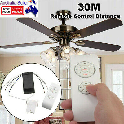 Universal Ceiling Fan Lamp Remote Controller Timing Wireless Control Kit 30M