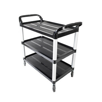 Portable 3 Shelf Heavy Duty Rolling Plastic Utility Cart Storage w/ Handles New