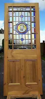 stained glass reclaimed hand painted glass Shakespeare