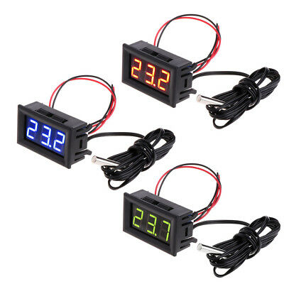 LED -50 ~ 110 °c Digital Thermometer DC 12v Car Temperature Monitor Panel Meter