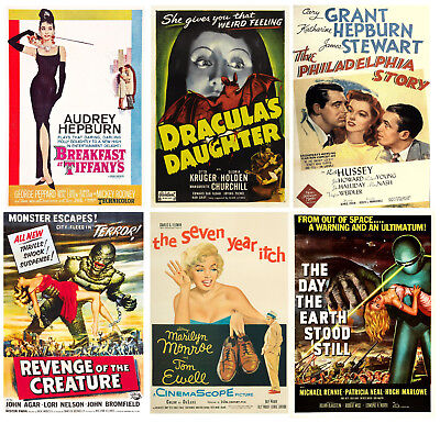 Vintage Movie Posters Wall Art A4 Prints