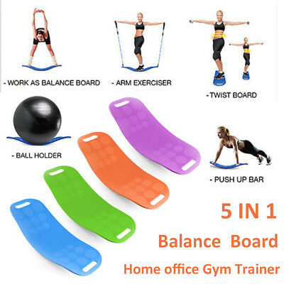 Gym Fitness Balance Board Yoga Workout Board Trainer Crossfit Exercise Equipment