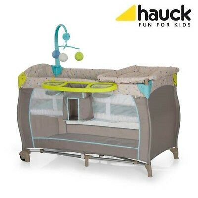 Hauck Baby Centre Travel Cot (Multi Dots Sand)