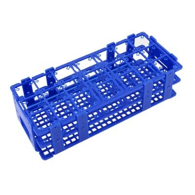 1X Plastic 21 Holes Box Rack Holder for 50ML Centrifuge Tubes Blue HKCE