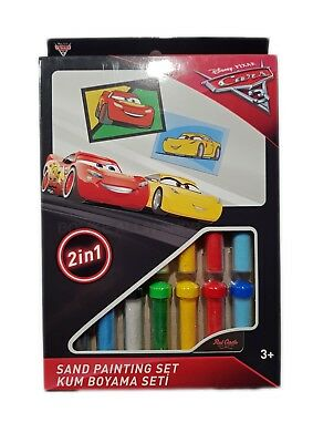 Disney Cars 2 Sandbilder Set DS-28 Sandbild Lightning McQueen & Cruz Ramirez