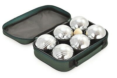 6 French Ball Stainless Steel Boules Set Petanque Outdoor Carry Case Garden Game
